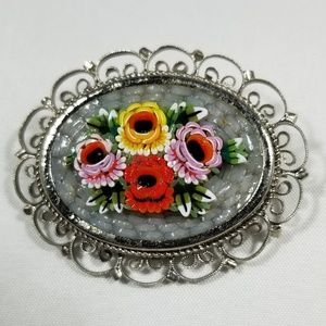 Vintage custom jewelry brooches pin mosaic